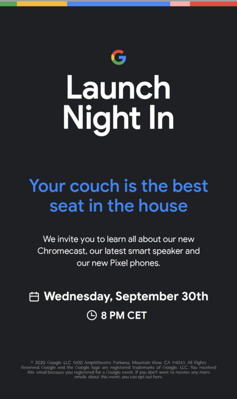 Google will officially unveil the new Pixel 5 series and other devices on September 30th. The event is now official! Here's what we'll see on September 30th.