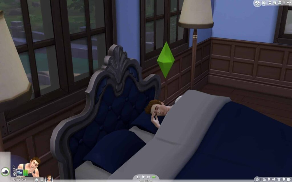 My Sim Can't Sleep